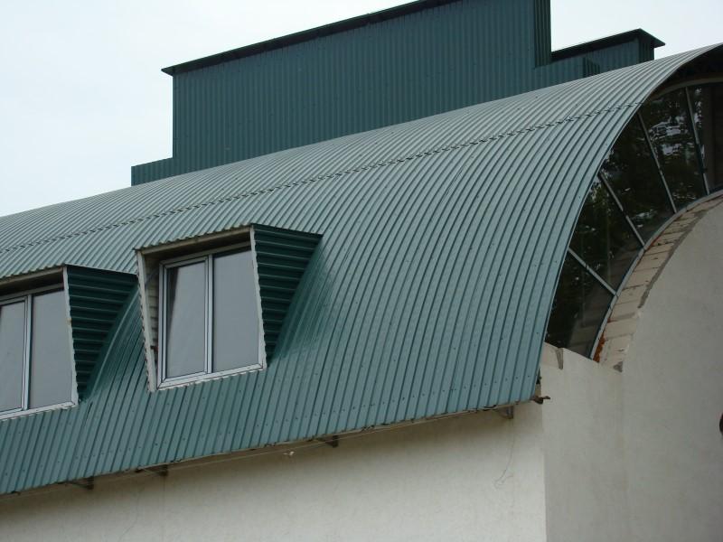 необычная крыша из профнастила