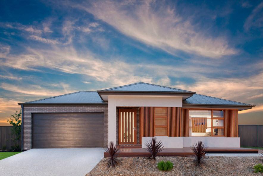 необычная планировка дома с крышей из профнастила