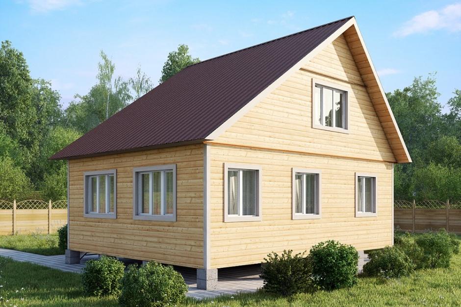 несимметричная двухскатная крыша из профнастила