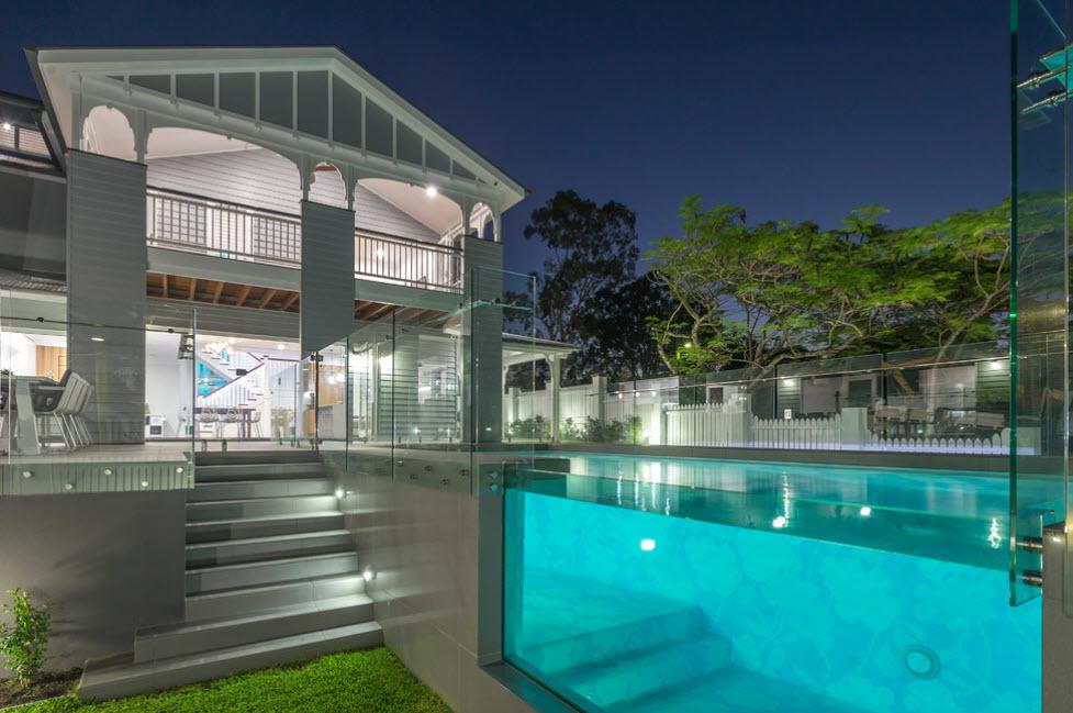 современный дизайн светло-серого дома