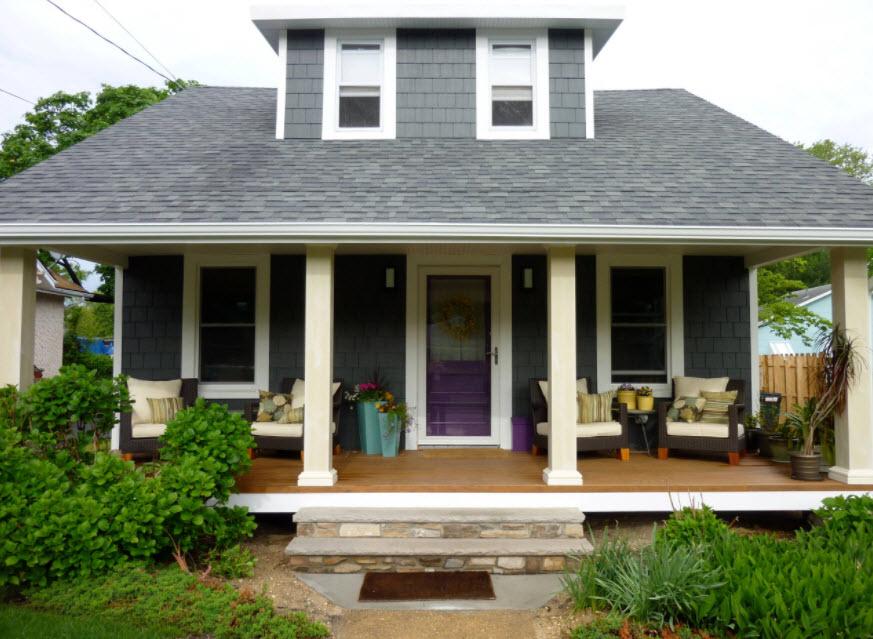 фасад дома с вальмовой крышей