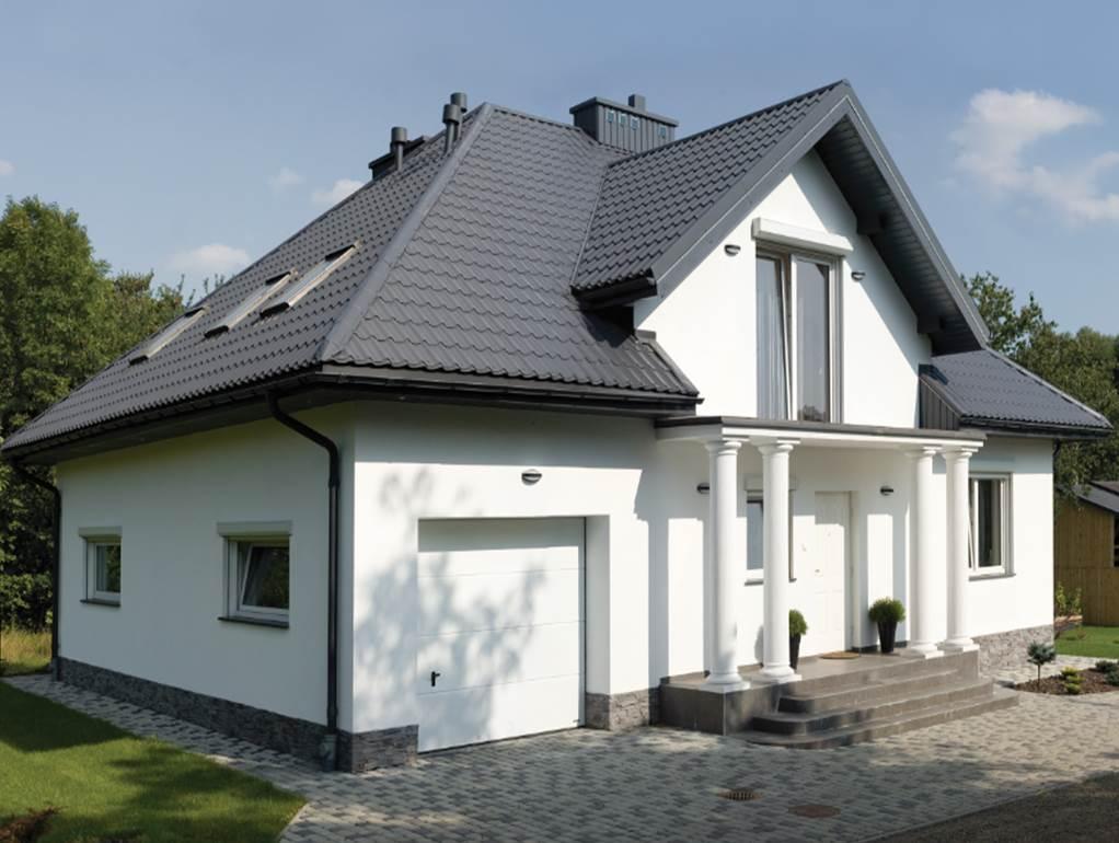 черная крыша из профнастила