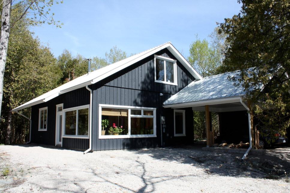 фото домов с белой крышей