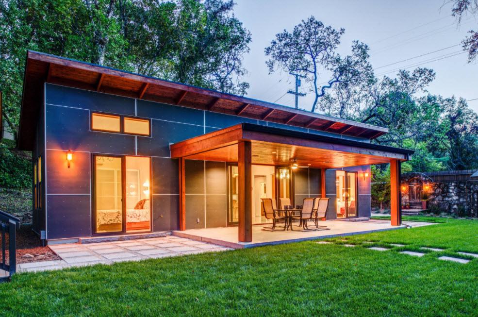 дом одноэтажный с террасой