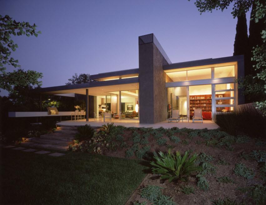 дом с террасой одноэтажный