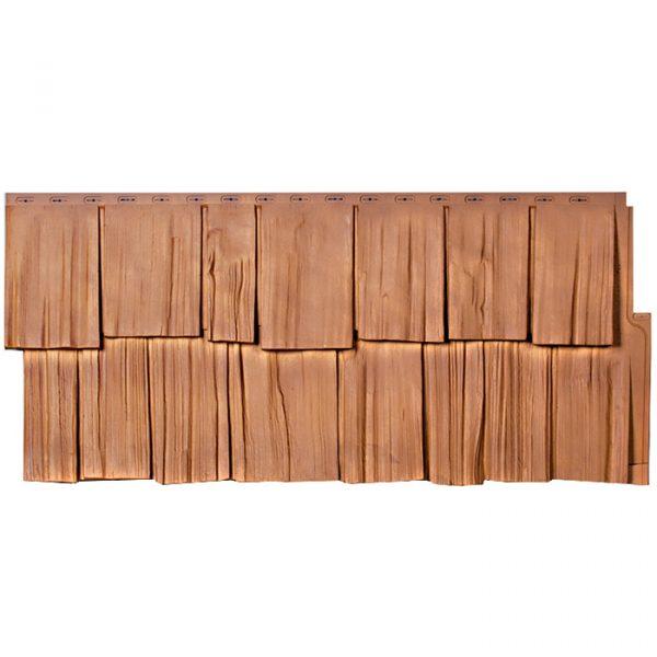Фасадные панели Т-сайдинг Щепа Дуб