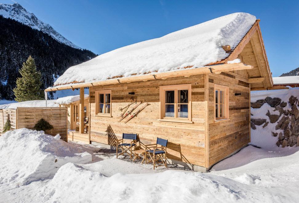 домик в горной местности