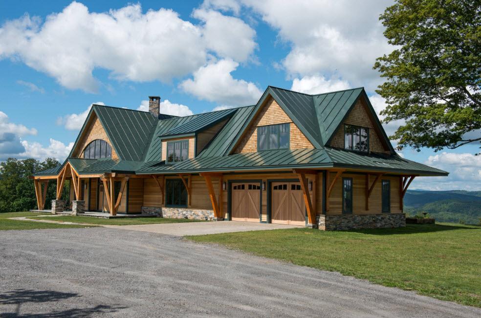 мансардный дом в горах
