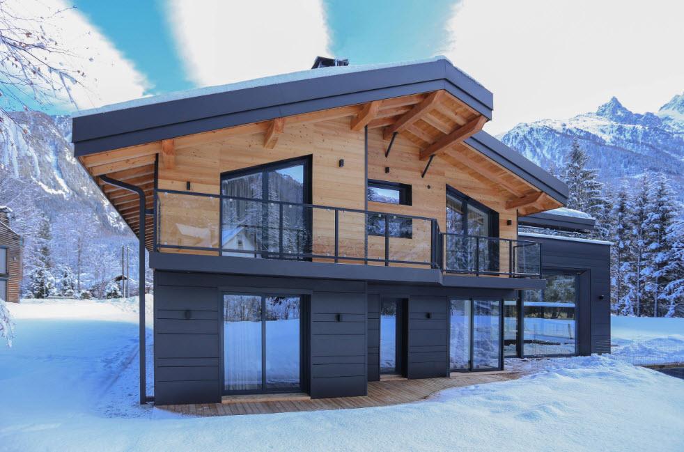 необычная постройка дома в горах
