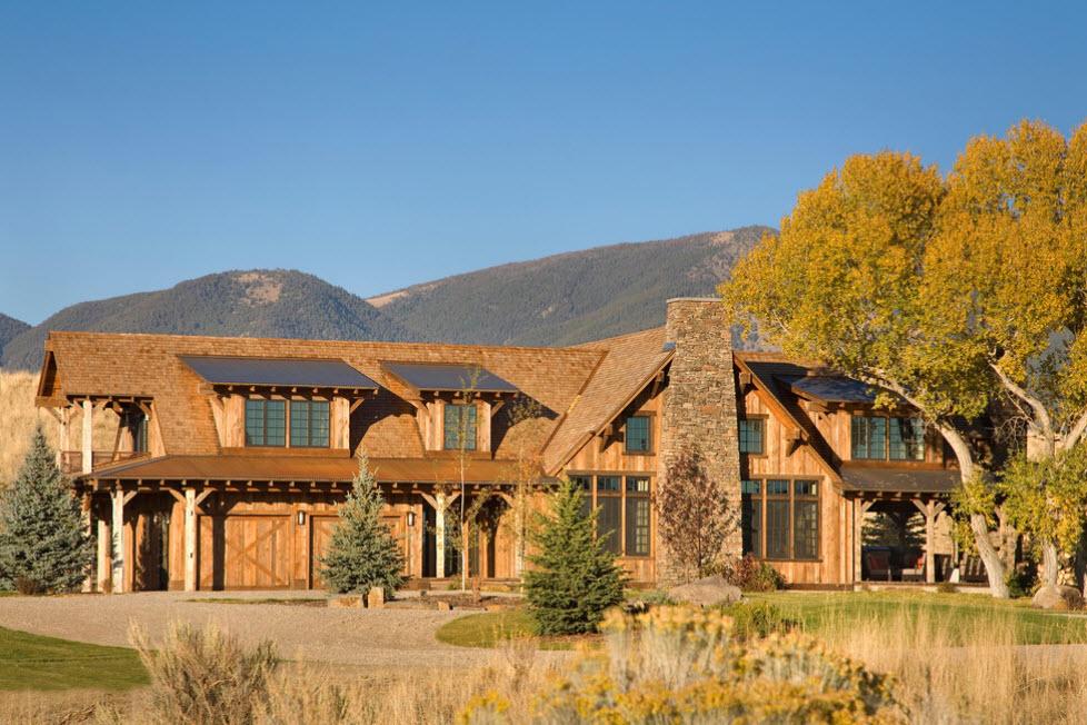 огромный дом в горах
