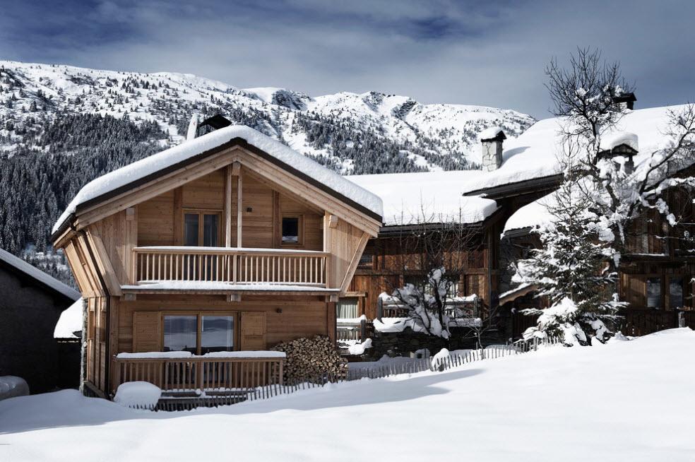 оригинальный домик в горах