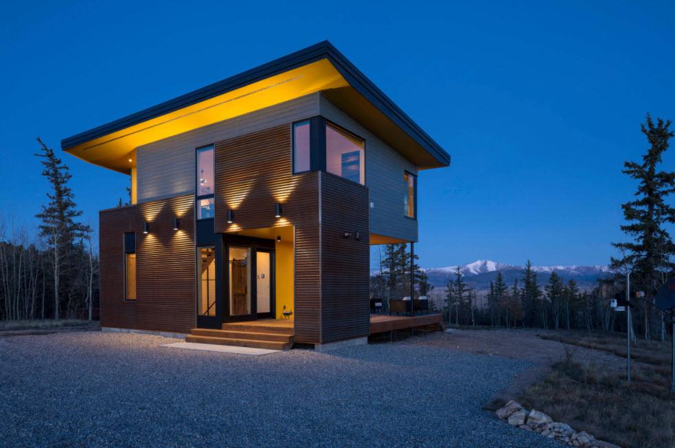 стильный домик на два этажа