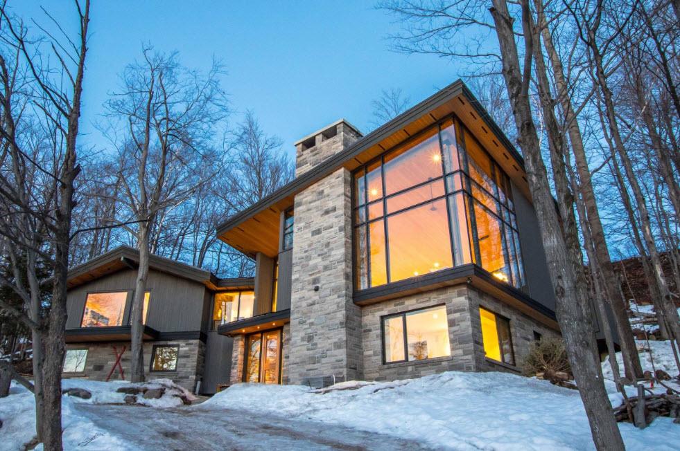 стильный дом в горах