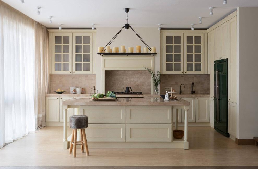 Кухня с окном в загородном доме: идеи обустройства и фото красивых примеров